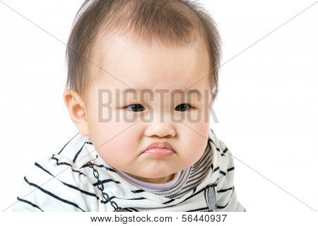 Asian baby pout lip