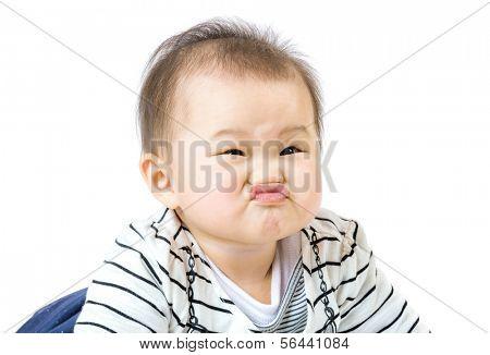 Baby boy purse lip