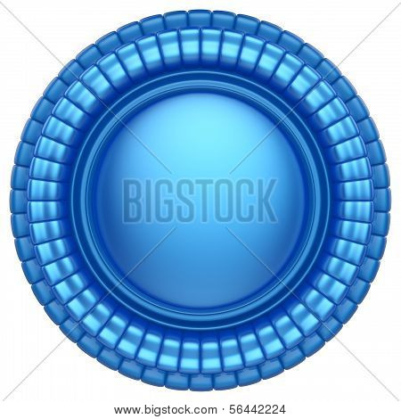 Abstract 3D Label Isolated On White Background.