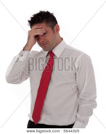 A Businessman With A Headache