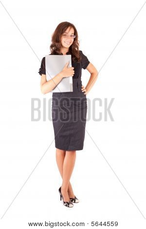 Attractive Businesswoman Isolated On White