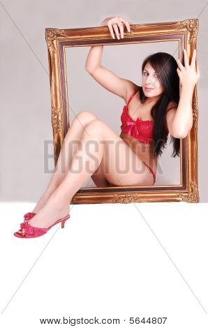 Woman In Picture Frame.