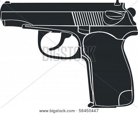 The gun image on a white background