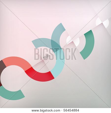 Geometric shapes circles modern background for infographics | business background | numbered banners | business lines