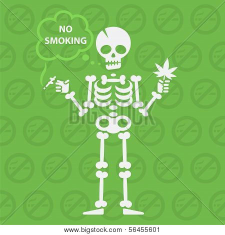 Concept on theme no smoking