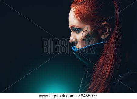 Portrait of futuristic women