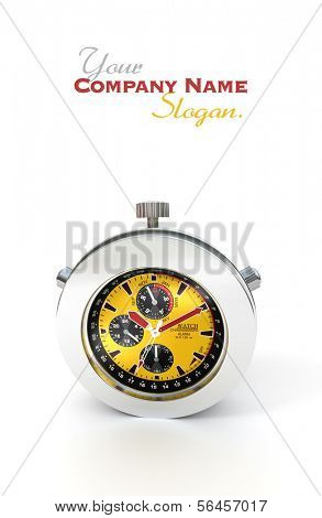 3D rendering of a stopwatch or chronometer