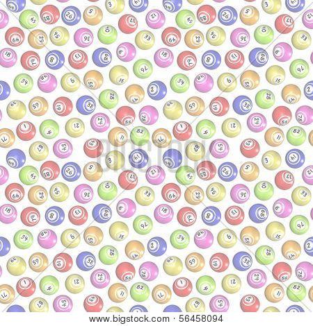 Seamless Bingo Balls background