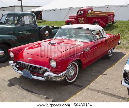 1957 Red Ford Thunderbird