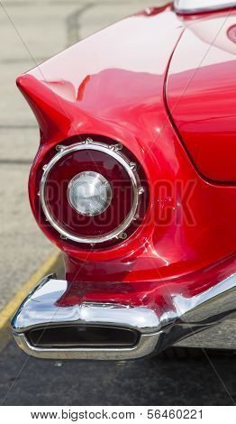 1957 Red Ford Thunderbird Tail Light