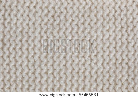 White Knitted Textured Background