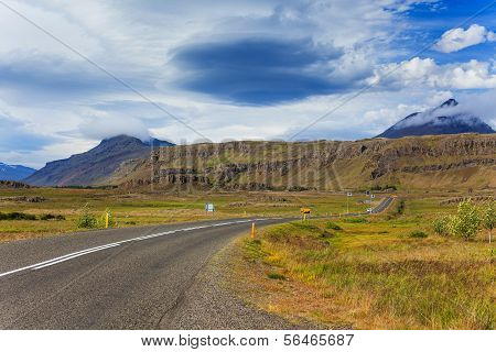 road in iceland.