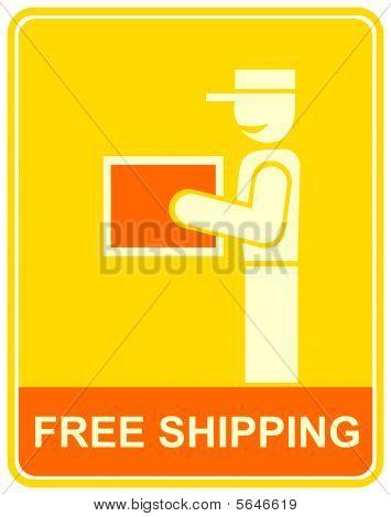 entrega gratuita - sinal, ícone