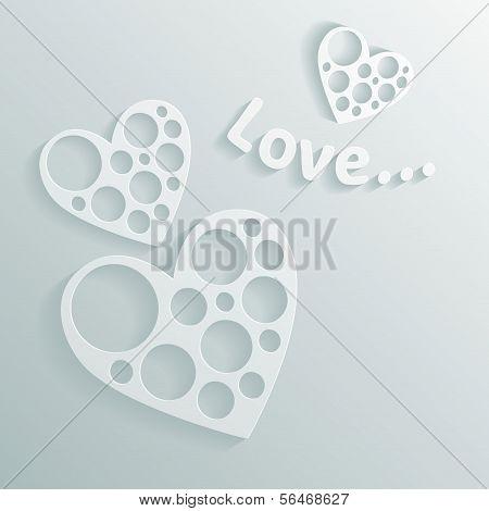 White Paper Hearts