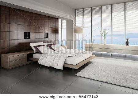 3d bed room interior