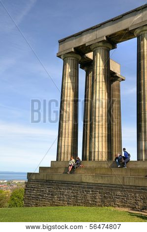 EDINBURGH - MAY 29: National Monument on the Calton Hill May 29, 2009 in Edinburgh, Scotland