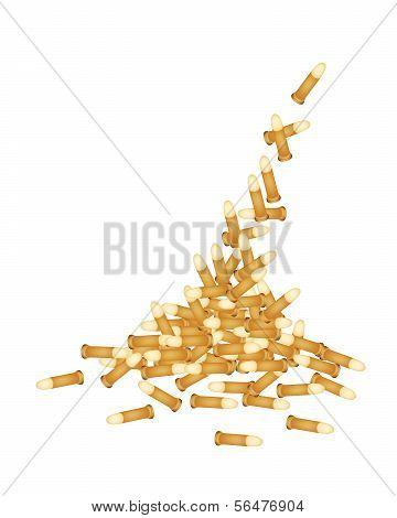 Stack Of Gun Bullets
