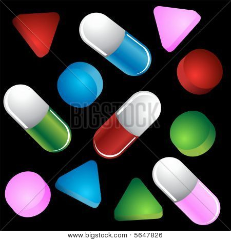 pill shapes colors