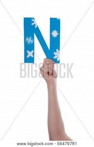 Hand Holding N