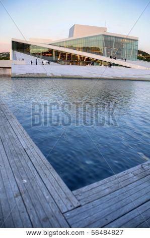 OSLO - JULY 14: Panorama of the Oslo Opera House July 14, 2009 in Oslo, Norway