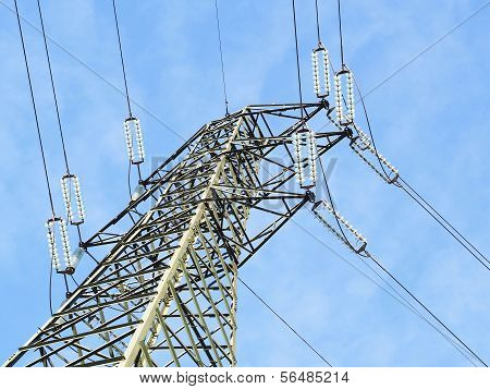 High Voltage Pylon View From Above