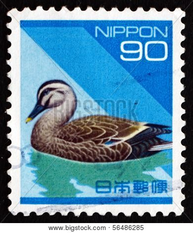 Postage Stamp Japan 1992 Eastern Spot-billed Duck