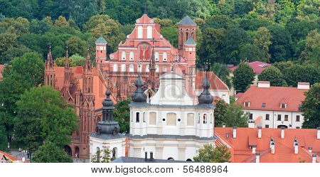 VILNIUS, LITHUANIA, AUGUST 10: St. Anna's Church in Vilnius, Lithuania. Summer time on August 10, 20