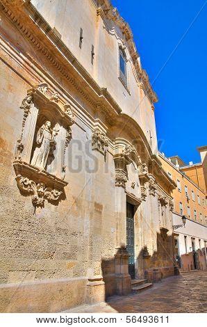 Church of St. Giuseppe. Lecce. Puglia. Italy.