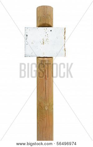 Rusty Metal Sign Board Signage, Wooden Signpost Pole Post Copy Space Background