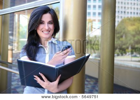 Indian Business Woman Outside Office