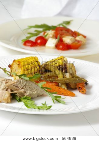 Plato gourmet & ensalada
