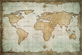 picture of treasure map  - vintage old world map background - JPG