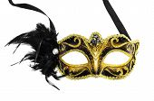 picture of venetian carnival  - Carnival mask isolated on a white background - JPG
