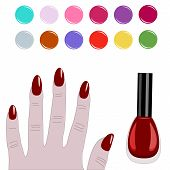 picture of acetone  - Vector illustration of color palette nail manicure - JPG