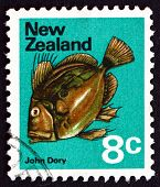 Postage Stamp New Zealand 1970 John Dory, Zeus Faber, Fish