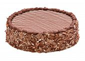 stock photo of torte  - Fine milk chocolate torte  - JPG