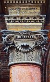 picture of ferrara  - Detail of the gate of Palazzo Municipale in Ferrara Italy - JPG