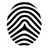 stock photo of fingerprint  - vector drawing fingerprint symbol - JPG