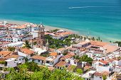 stock photo of guadalupe  - Panoramic view of downtown Puerto Vallarta - JPG