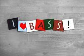 stock photo of double-bass  - I Love Bass - JPG