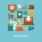 pic of internet-banking  - Vector concept in flat style  - JPG