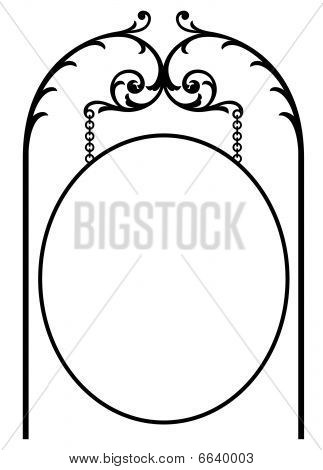 Oval Sign Marquee
