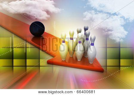 Bowling ball target concept