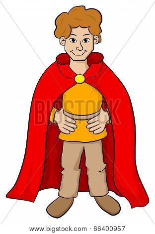 Squire With Red Cape