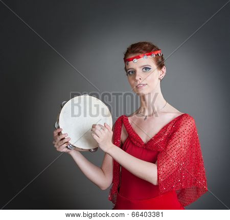 dancer with a tambourine