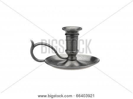 Pewter candlestick in old style