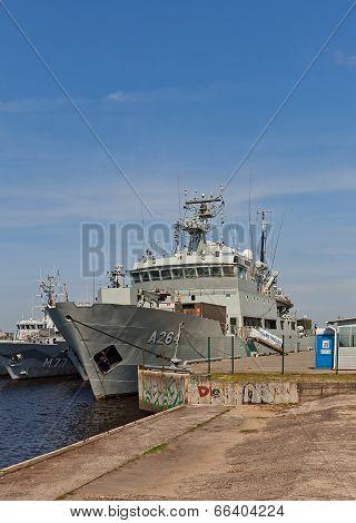 Hswms Trosso Patrol Craft Tender Of Swedish Navy