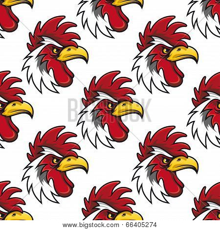 Rooster head  background pattern