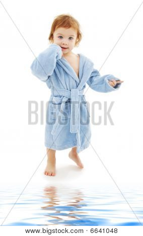 Baby Boy In Blue Robe