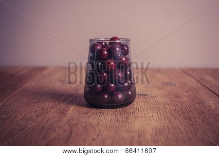 Sugar Coated Balls In Glass Container